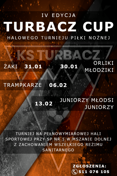 Zbliża się IV edycja turnieju TURBACZ CUP