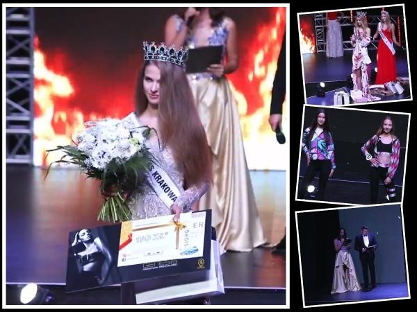Monika Wsolak i Klaudia Pyrz z tytułami Miss Krakowa i Miss Krakowa Nastolatek