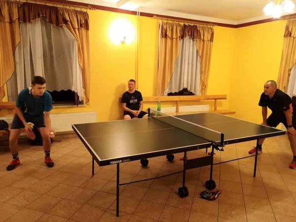 W świetlicy odbył się pierwszy turniej tenisa stołowego o puchar wójta gminy Łukowica